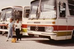 Claudia Matzke mit ägyptischen Reiseleiter während einer Kreuzfahrt durchs östliche Mittelmeer 1987