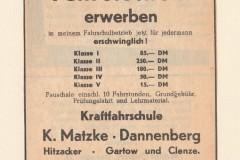 Preise für einen Führerschein in der EJZ-Anzeige aus dem Jahr 1960